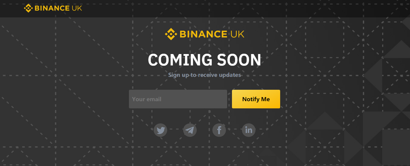 Binance UK coming soon